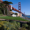 The Golden Gate Bridge and Fort Point, San Francisco, California
