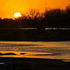 Sunrise on Platte River in Nebraska