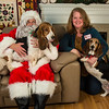 Angela Martin with Bassets Maggie and Molley.