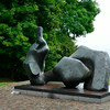 Henry Moore piece outside lunch terrace