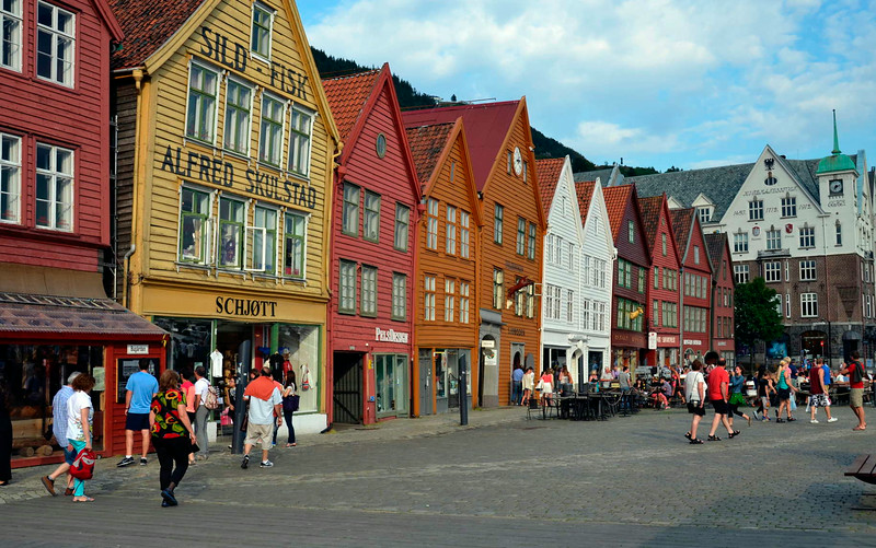 The Bryggen, heritage row of old warehouses