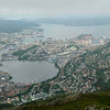 View of Bergen from top of Ulriken