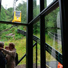 Ulriken cable car on its way down