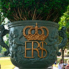 Royal  pot on gatepost