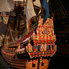 Model of the Vasa  showing the  highly-decorated stern
