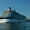 The obscenely huge Celebrity Eclipse cruise liner and Viking Line  (the ferry to Finland)