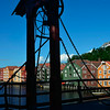 Den Gamle (the old) bridge and warehouses in Trondheim