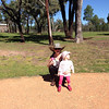 Scarlett and Margaret enjoying the Giraffes at Western Plains Zoo - Easter 2014