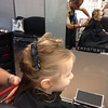 Scarlett having a haircut at 'Enzo's' - Age 2 (April 2014)