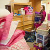 Holly Chaos '17 moving into her new room on the recently renovated side of Gaines Hall.