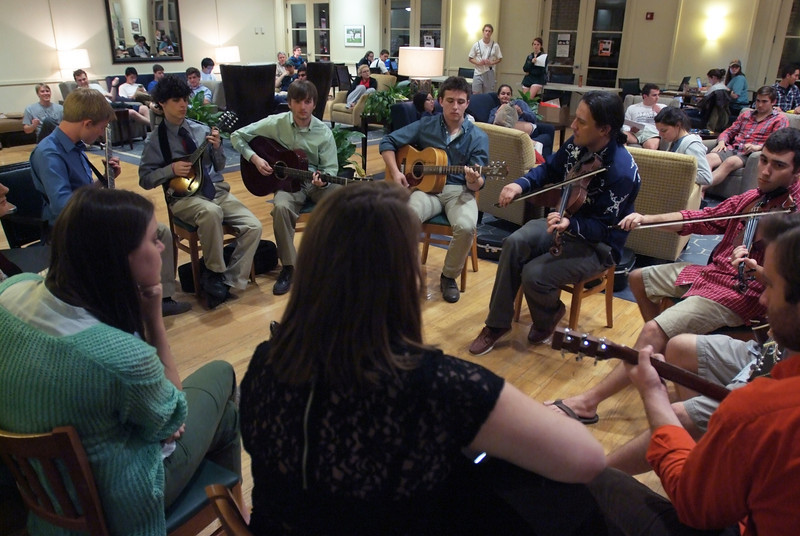 The Bluegrass Ensemble performing in Elrod Commons.