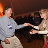 Guy Kerr '75 and his dance partner enjoy the band party.