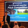 Steele Burrow '13 makes his pitch in the first annual Venture Club Pitch Competition.
