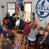 Chris Leva '86 and Burr Datz '75 performing at the Blue Lab Brewery in downtown Lexington.