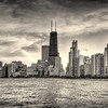 Chicago Skyline - Black and White