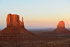 West and East Mitten.  Monument Valley