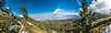 Panoramic view from the trail near the summit of Mount San Jacinto. From this view, you can see all the way to the desert floor and Palm Springs over 9000 feet below.<br /> <br /> This image is huge at 14800 x 4400 pixels.