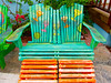 Colorful chairs at the cruise center in Grand Turk.