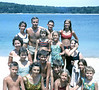 56  *Schmidt and Albee families at the pond *Also, Ellen Stone, front right, Joan Davis, Gary Ker, and unknown friend...and Jo Bean *1960's