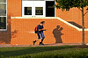 Students head for the door on first morning of school at North Penn HIgh School.  Tuesday, September 2, 2014.   Photo by Geoff Patton
