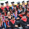 José Quezada — For the Times-Standard<br /> <br /> A section of soon-to-be McKinleyville High School graduates applaud class speaker Jnaneshwar Weibel (not pictured) at the end of his sppech. <br /> <br /> McKinleyville High School conducted it's 51st Commencement ceremony Thursday at Humboldt State's Redwood Bowl Thursday afternoon.