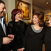 The Hellenic American Academy celebrates its accreditation by the New England Association of Schools and Colleges, with a reception at the Whistler House. From left, George Christopulos of Andover, president of Holy Trinity Parish Council, Sharon DuBois of Billerica, business development manager at Hellenic American Academy, Vina Troianello of Bradford, principal, and LeeAnn Conners of Lowell, director of Hellenic American Academy. (SUN/Julia Malakie)