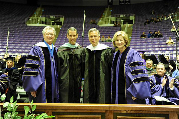 Alan Hall, Norm Tarbox, Jon Huntsman, Karen Fairbanks