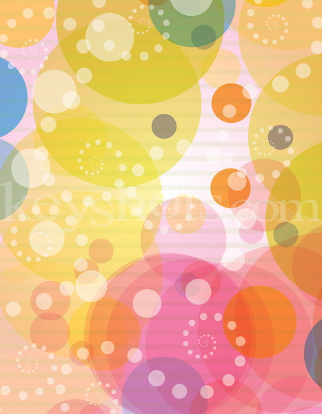8 5x11 Colourful Bubbles & Circles L