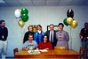 Christy Taylor Signs Scholarship with ABAC<br /> <br />  The Berrien Press, page 3-B, March 28, 2001<br />  Photo caption:<br />  CHRISTY TAYLOR, a senior at BHS, recently signed a scholarship to play fast pitch softball with Abraham Baldwin College. In addition to playing softball and tennis at Berrien High, Christy is also a varsity cheerleader. She was recently named one of ten finalists of a field of 70 female athletes throughout the state of Georgia for High School Female Athlete of the Year program. She is pictured during the ABAC scholarship signing ceremony with (seated) ABAC Coach Donna Campbell, (standing) BHS Coaches Norma Gaskins and Michelle Jones, and her parents, Johnny and Kathy Taylor.
