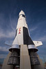 U.S. Space and Rocket Center - Mock-up of a Saturn V rocket with an Apollo Space Craft atop the rocket at the museum