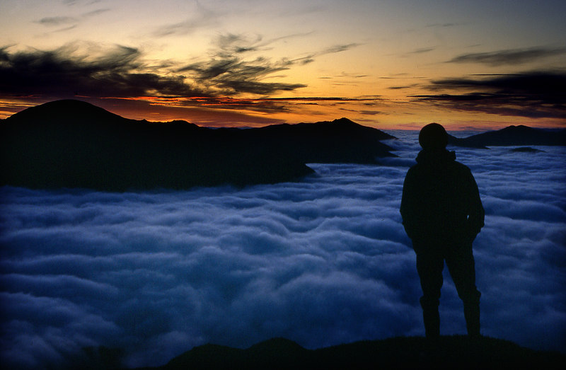 Came the dawn.  On Sgurr a'Mhaim.  4am, 16/06/84