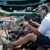Behind the scenes at the NESN truck at Fenway Park.
