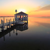 Gazebo on the Sound at Sunset, Nags Head North Carolina