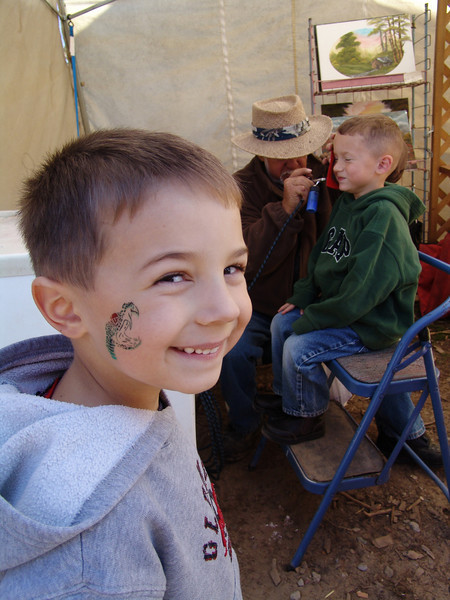 Face painting at Spicers Orchard in Hartland, Michigan