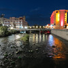 Truckee River down town Reno during Hot August Nights Car Cruse.
