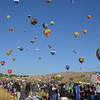 Balloon Races at Reno, Nevada - Mass Ascension.