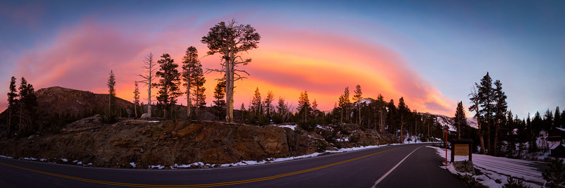 Yosemite Sunset Panorama