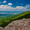 View of the Shenandoah Valley from Crescent Rock, Shenandoah National Park, Virginia.