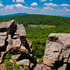 View of the Blue Ridge Mountains from North Marshall,  in Shenandoah National Park, Virginia.