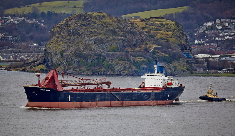'Yeoman Bank' Passing Dumbarton Rock - 21 December 2013