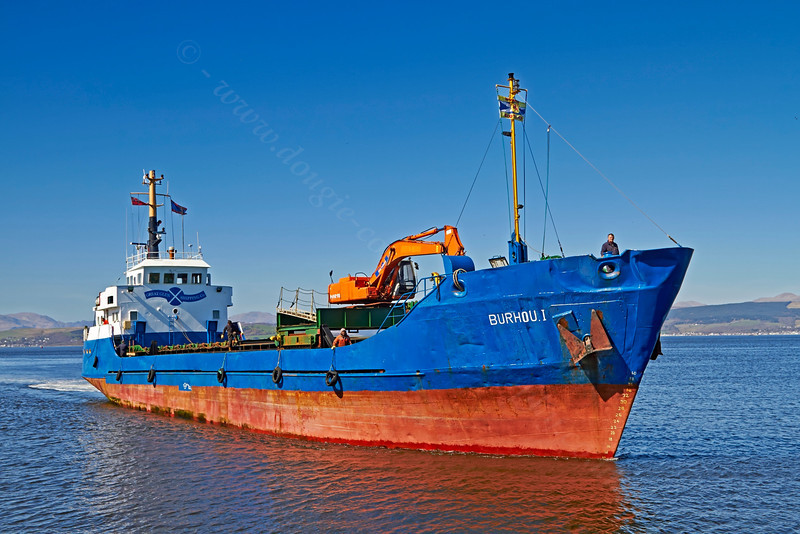 'Burhou I' Approaching Garvel Dry Dock - 18 April 2014