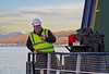 Guiding the 'Hebridean Isles' in to the James Watt Dock - 10 November 2013