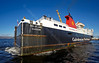 'Isle of Lewis' Exiting Garvel Dry Dock - 10 October 2013