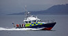 MOD Police Boat 'Lewis' passing Port Glasgow - 13 March 2014