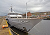 Superyacht Hampshire II in  James Watt Dock - 11 April 2014
