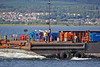 (HMS) Queen Elizabeth Aft Island Move - Passing Port Glasgow - 16 June 2013