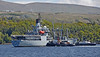 RFA Gold Rover berthing at Faslane - 16 May 2014