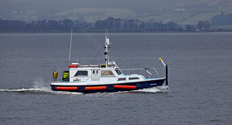 'Newark' Survey Vessel passing Port Glasgow - 13 March 2014