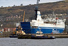 Anglegarth in Inchgreen Dry Dock to Assist MV Finnarrow Exit  - 20 March 2013