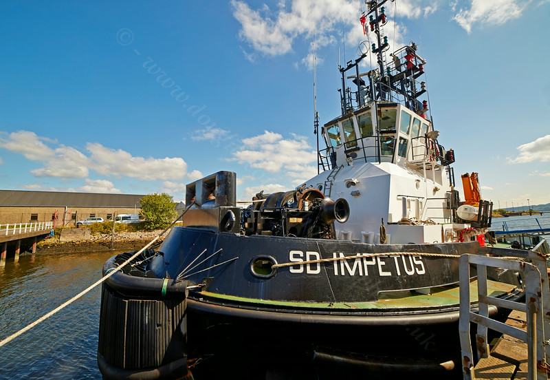 'SD Impetus' at Great Harbour, Greenock - 27 August 2014